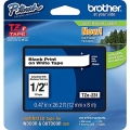 "Brother TZe-231 P-Touch® Label Tape, 1/2"" Black on White"